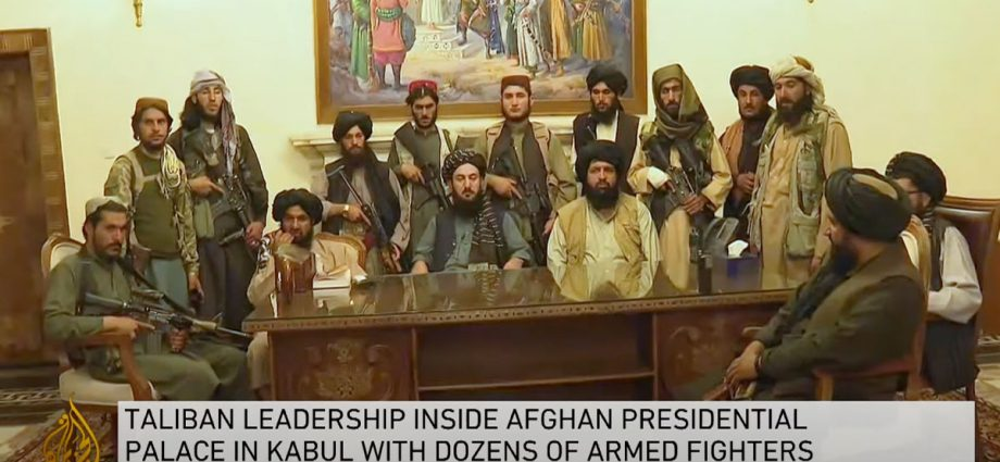 Ghani flies out of Afghanistan as Kabul falls to Taliban